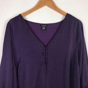 torrid Tops - Torrid Lace Inset Bell Sleeve Top
